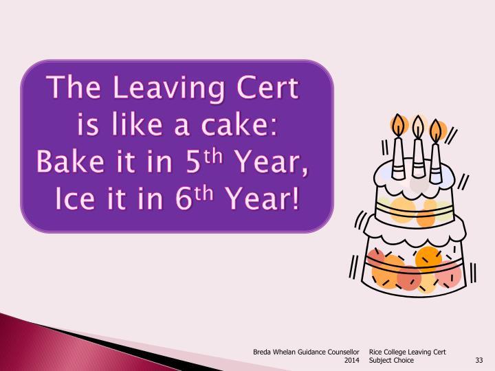 The Leaving Cert