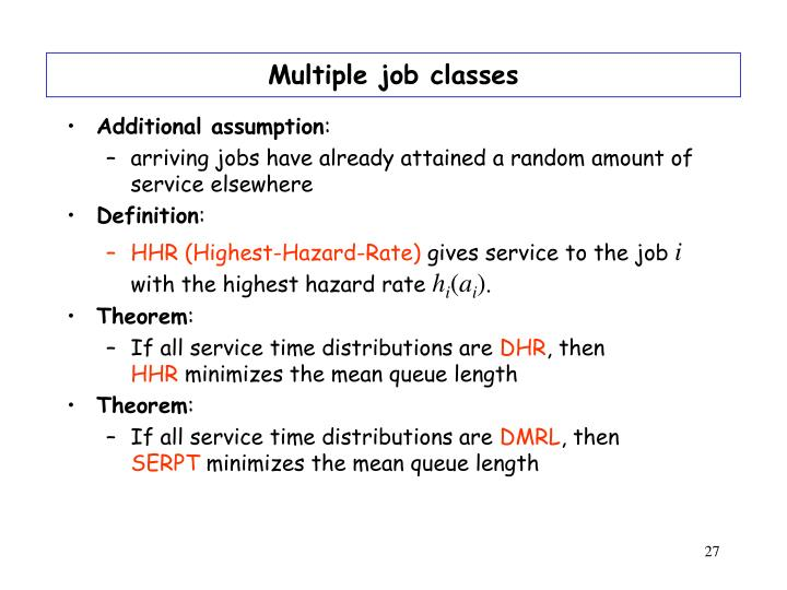 Multiple job classes