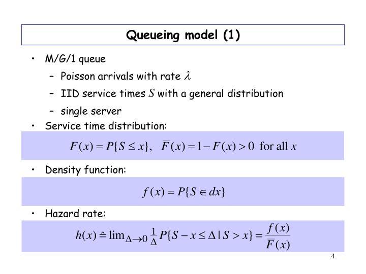 Queueing model (1)
