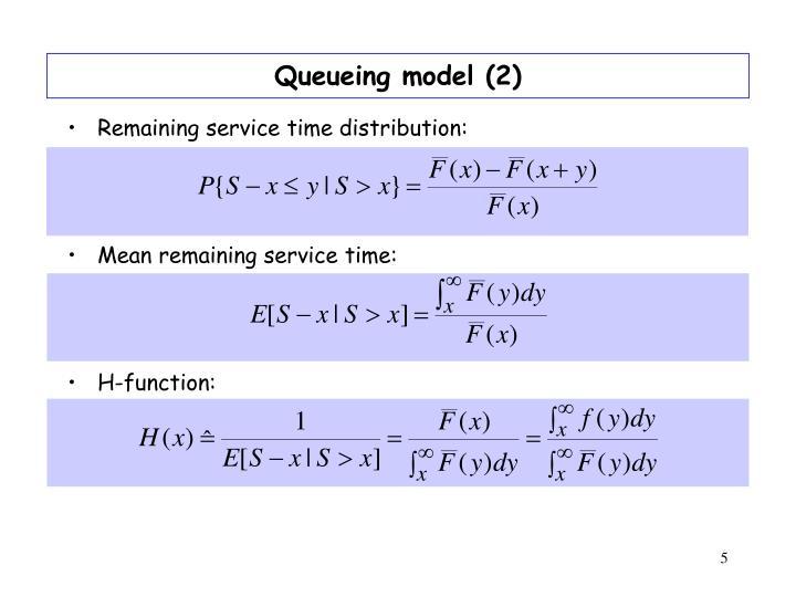 Queueing model (2)