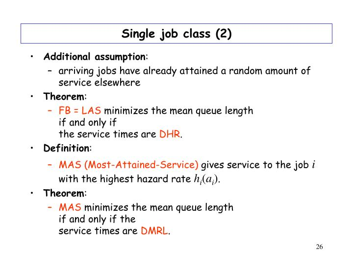 Single job class (2)