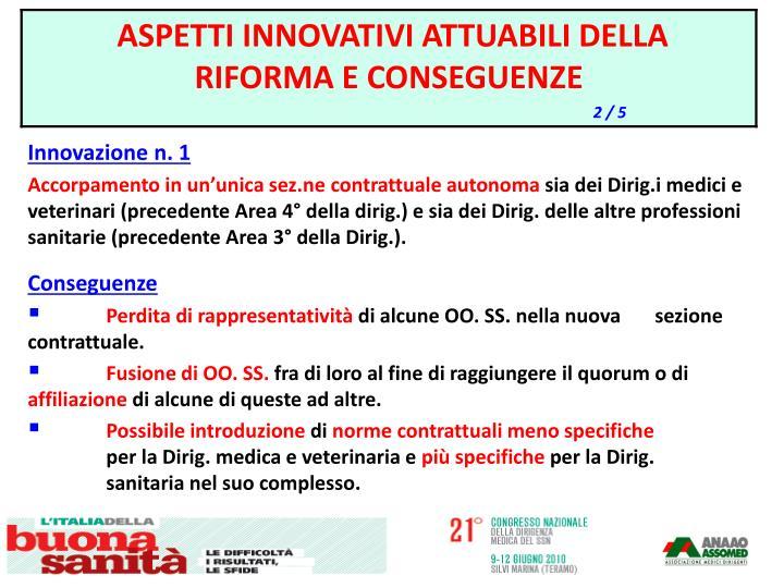 Innovazione n. 1