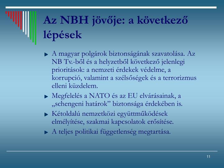 Az NBH jövője: a következő lépések
