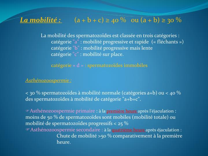 La mobilité :