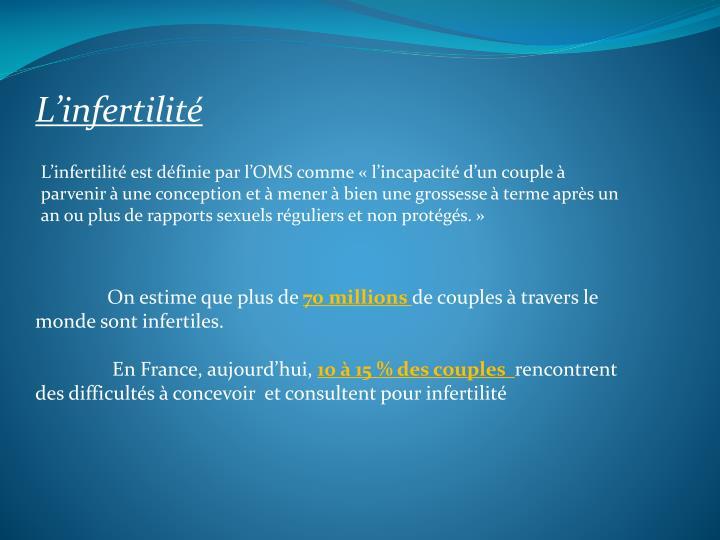 L'infertilité
