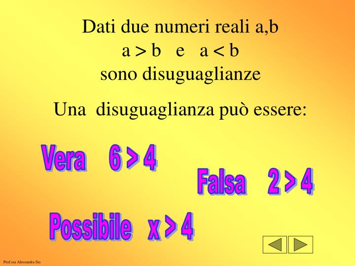 Dati due numeri reali a,b