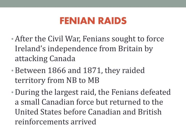 FENIAN RAIDS