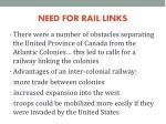 need for rail links