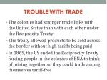 trouble with trade