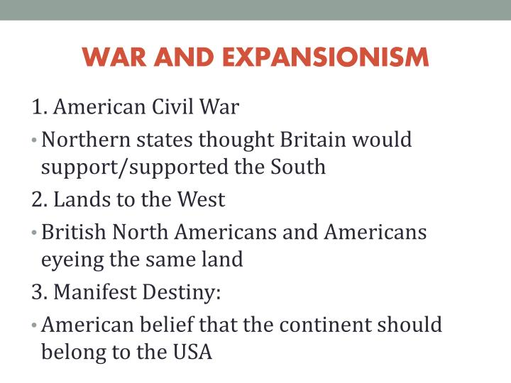 WAR AND EXPANSIONISM