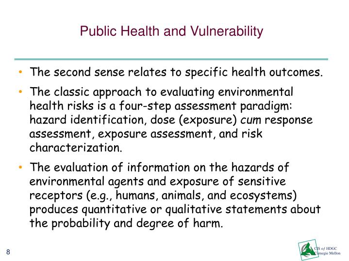 Public Health and Vulnerability