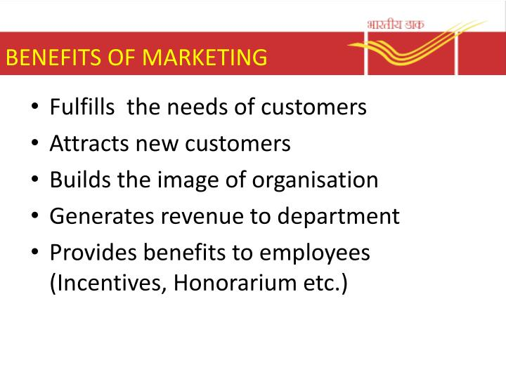 BENEFITS OF MARKETING