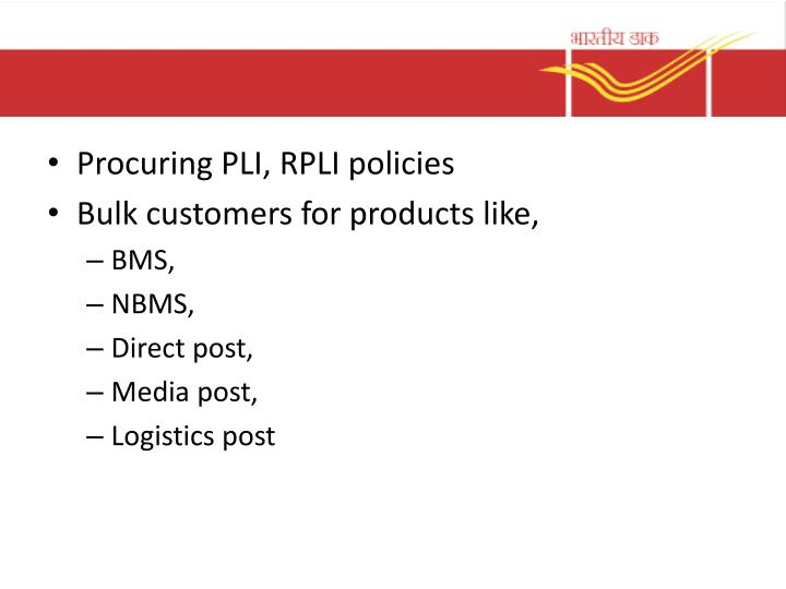Procuring PLI, RPLI policies