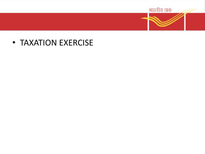 TAXATION EXERCISE