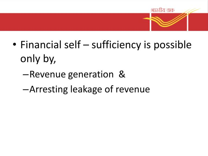 Financial self – sufficiency is possible only by,