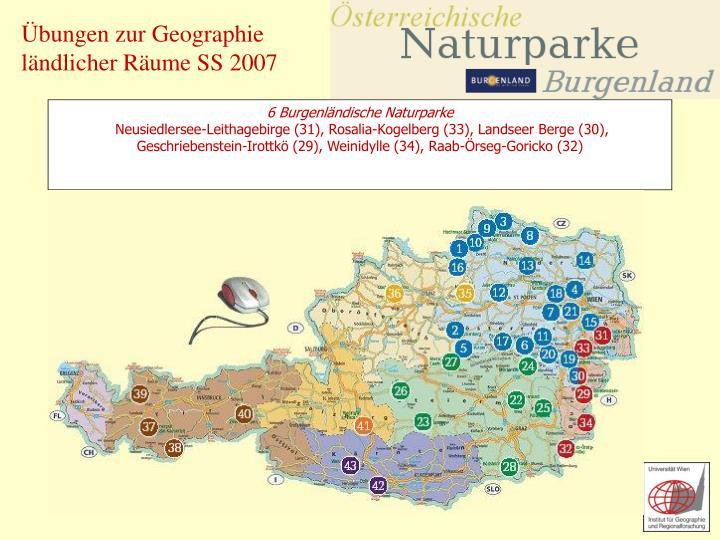 6 Burgenländische Naturparke