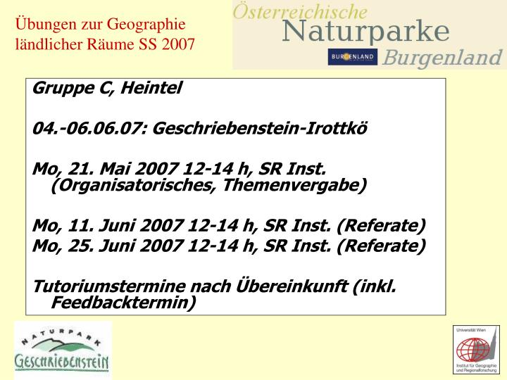 Gruppe C, Heintel