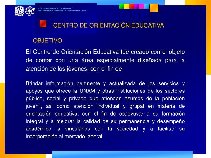 CENTRO DE ORIENTACIÓN EDUCATIVA