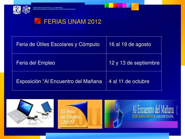 FERIAS UNAM 2012