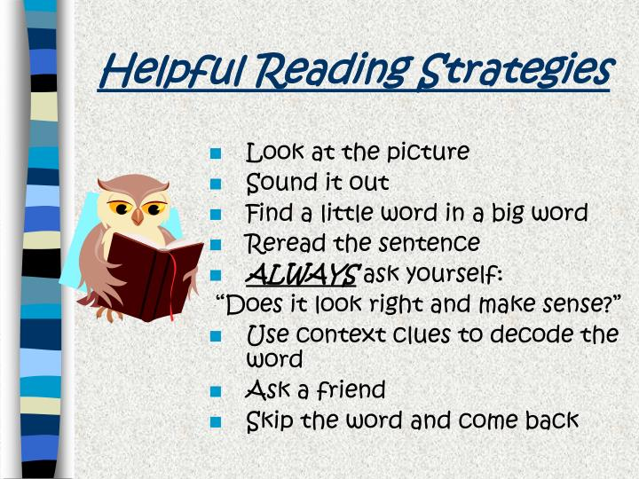 Helpful Reading Strategies