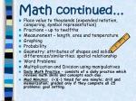 math continued