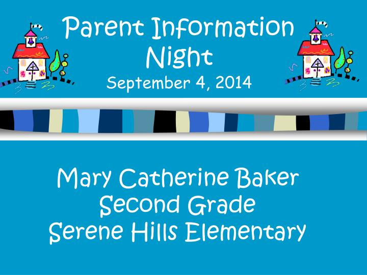Parent information night september 4 2014