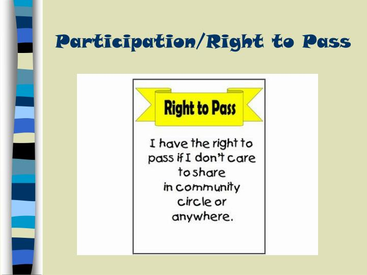 Participation/Right to Pass