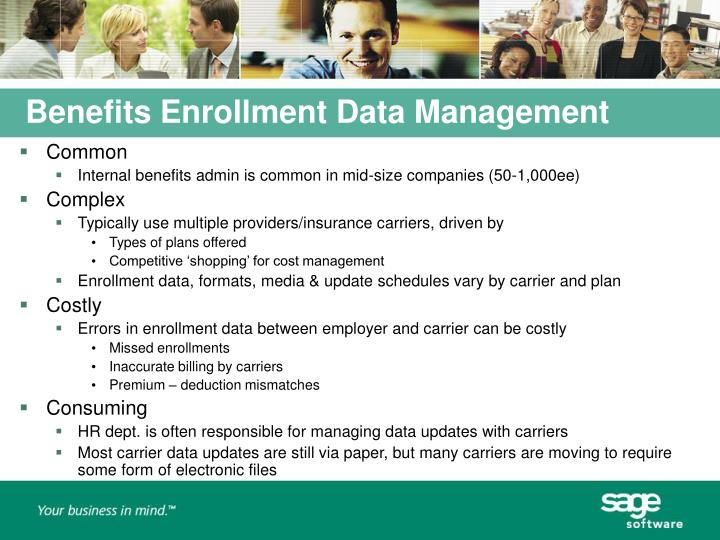 Benefits Enrollment Data Management