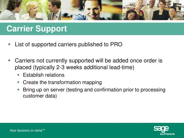 Carrier Support