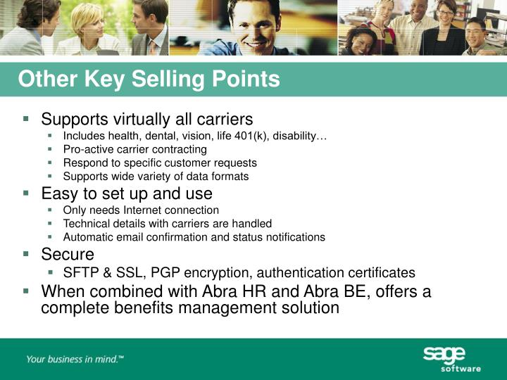 Other Key Selling Points