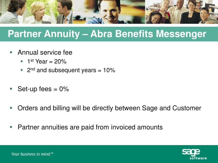 Partner Annuity – Abra Benefits Messenger