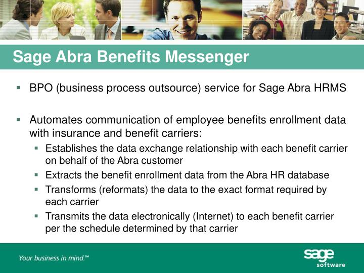 Sage Abra Benefits Messenger