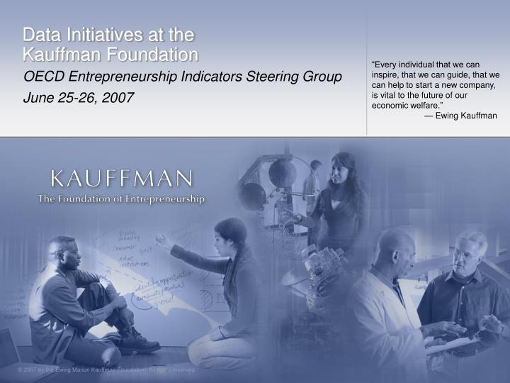Data initiatives at the kauffman foundation