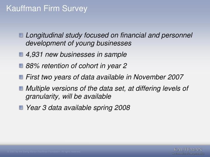 Kauffman Firm Survey