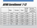 afnr enrollment 7 12
