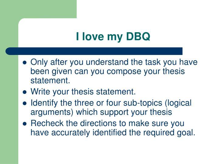 I love my DBQ