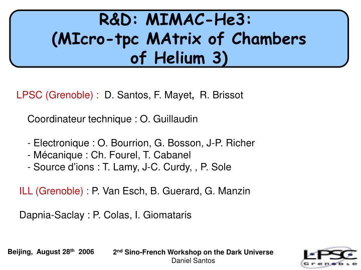 R&D: MIMAC-He3:
