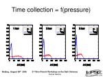 time collection f pressure