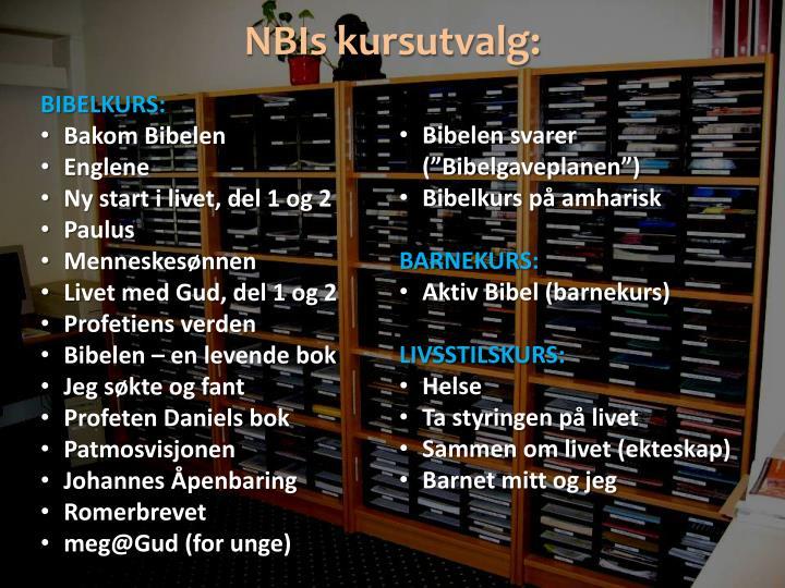 NBIs kursutvalg: