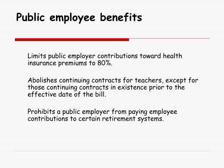 Public employee benefits