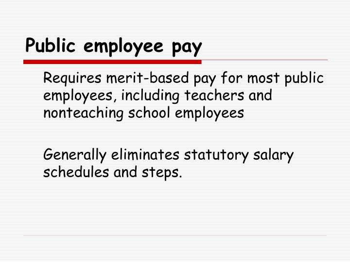 Public employee pay