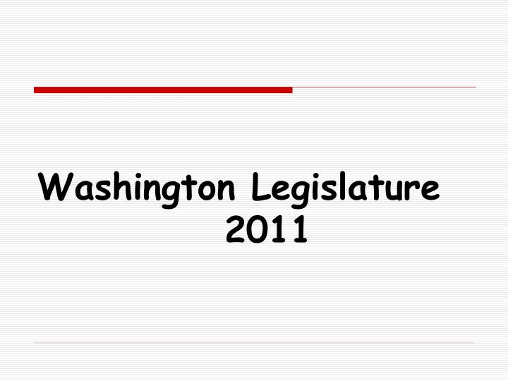 Washington legislature 2011