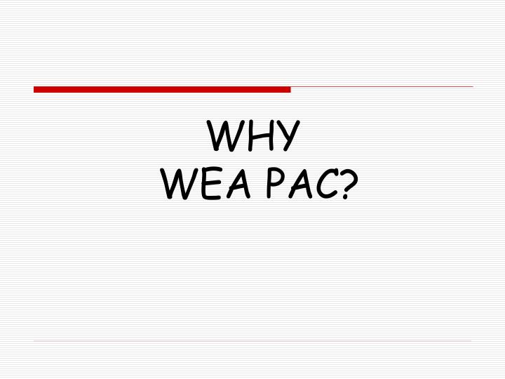 Why wea pac