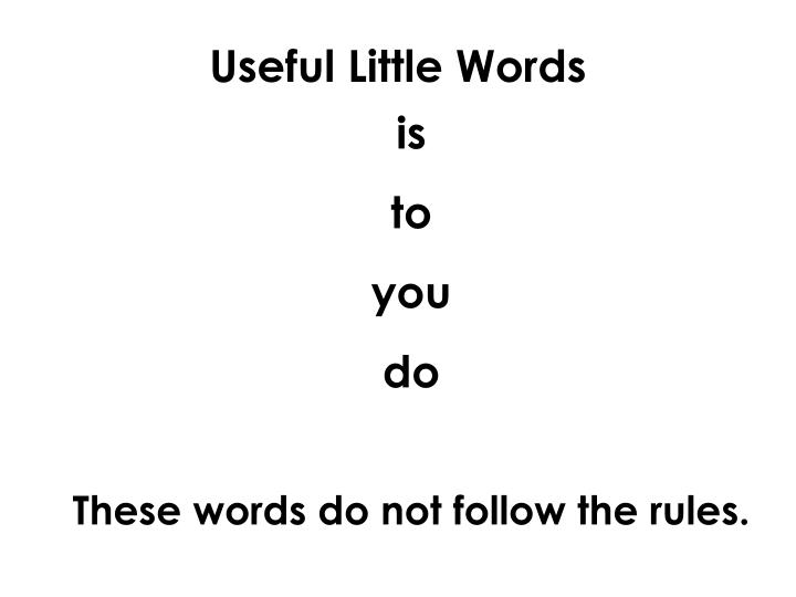 Useful Little Words