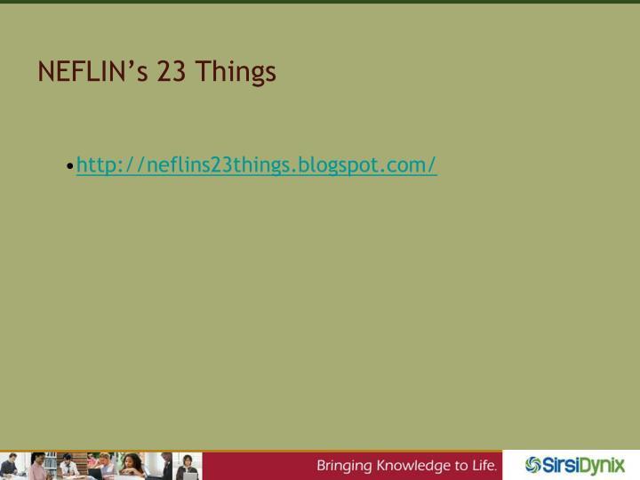 NEFLIN's 23 Things