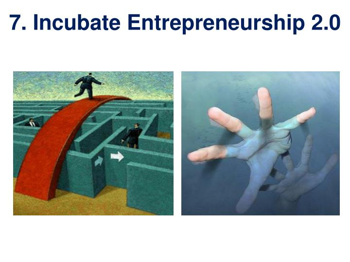 7. Incubate Entrepreneurship 2.0