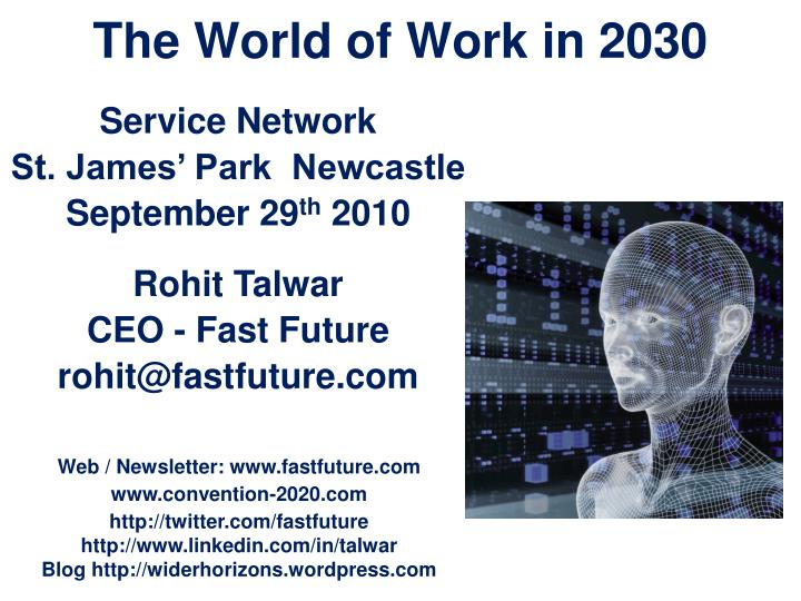 The world of work in 2030
