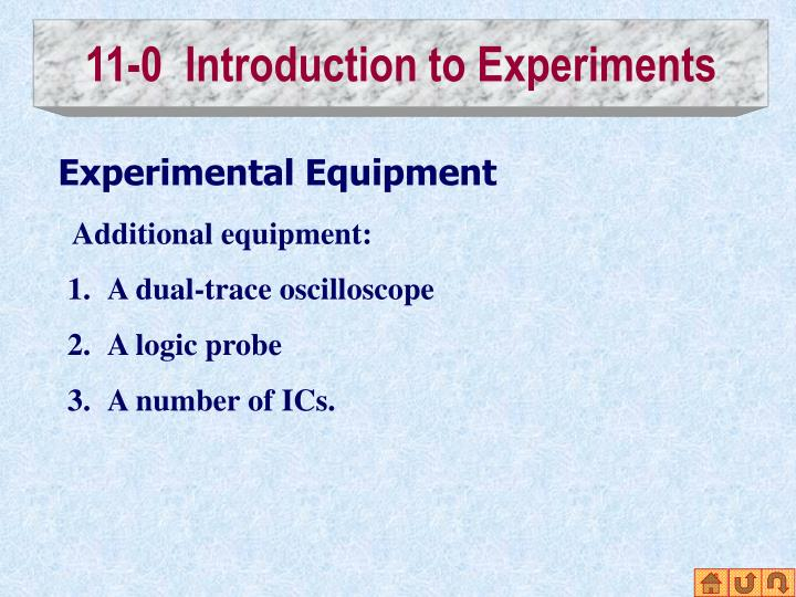 11-0  Introduction to Experiments