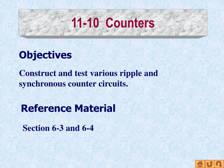 11-10  Counters
