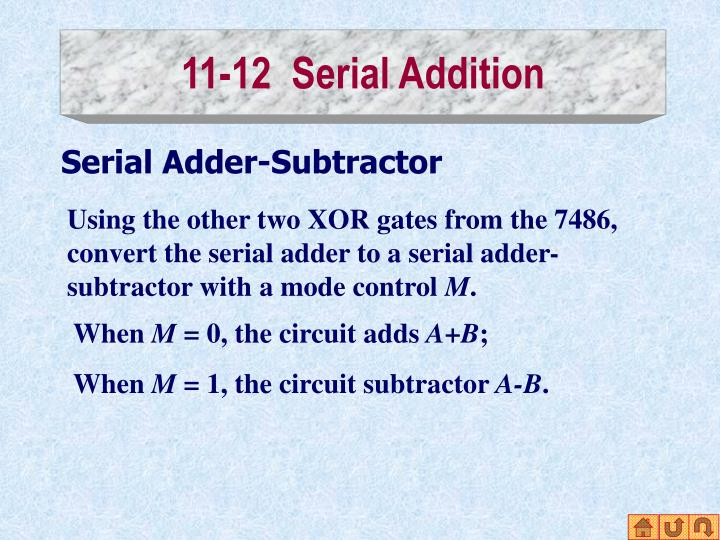 11-12  Serial Addition